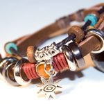His & Hers Tribal Motif Hemp and Leather Bracelets