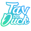 Tav the Duck Name Logo
